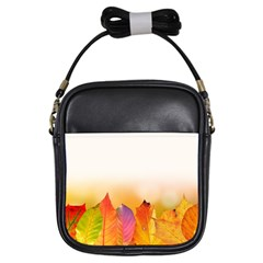 Autumn Leaves Colorful Fall Foliage Girls Sling Bags by BangZart