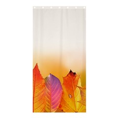 Autumn Leaves Colorful Fall Foliage Shower Curtain 36  X 72  (stall)
