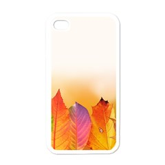 Autumn Leaves Colorful Fall Foliage Apple Iphone 4 Case (white) by BangZart