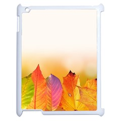 Autumn Leaves Colorful Fall Foliage Apple Ipad 2 Case (white) by BangZart