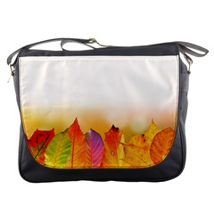 Autumn Leaves Colorful Fall Foliage Messenger Bags by BangZart