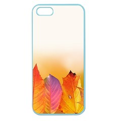 Autumn Leaves Colorful Fall Foliage Apple Seamless Iphone 5 Case (color) by BangZart