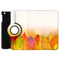 Autumn Leaves Colorful Fall Foliage Apple Ipad Mini Flip 360 Case by BangZart