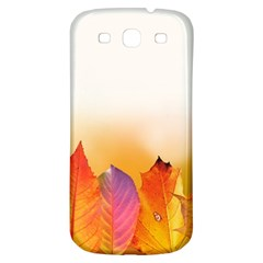 Autumn Leaves Colorful Fall Foliage Samsung Galaxy S3 S Iii Classic Hardshell Back Case by BangZart