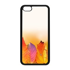 Autumn Leaves Colorful Fall Foliage Apple Iphone 5c Seamless Case (black)