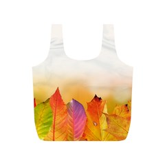 Autumn Leaves Colorful Fall Foliage Full Print Recycle Bags (s)