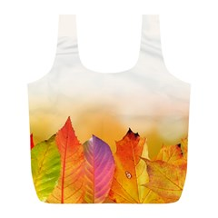 Autumn Leaves Colorful Fall Foliage Full Print Recycle Bags (l)  by BangZart
