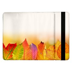 Autumn Leaves Colorful Fall Foliage Samsung Galaxy Tab Pro 12 2  Flip Case