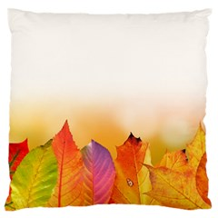 Autumn Leaves Colorful Fall Foliage Large Flano Cushion Case (two Sides) by BangZart