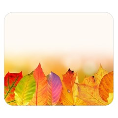 Autumn Leaves Colorful Fall Foliage Double Sided Flano Blanket (small)  by BangZart