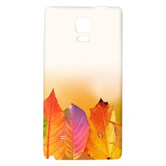 Autumn Leaves Colorful Fall Foliage Galaxy Note 4 Back Case by BangZart