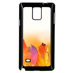 Autumn Leaves Colorful Fall Foliage Samsung Galaxy Note 4 Case (black) by BangZart
