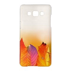 Autumn Leaves Colorful Fall Foliage Samsung Galaxy A5 Hardshell Case  by BangZart