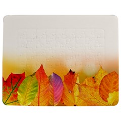 Autumn Leaves Colorful Fall Foliage Jigsaw Puzzle Photo Stand (rectangular)