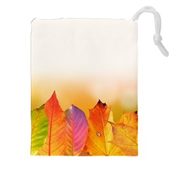 Autumn Leaves Colorful Fall Foliage Drawstring Pouches (xxl) by BangZart