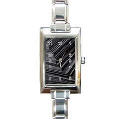 Paper Low Key A4 Studio Lines Rectangle Italian Charm Watch by BangZart