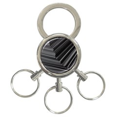 Paper Low Key A4 Studio Lines 3 Ring Key Chains