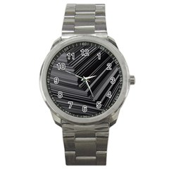 Paper Low Key A4 Studio Lines Sport Metal Watch