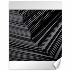 Paper Low Key A4 Studio Lines Canvas 12  X 16   by BangZart