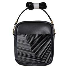Paper Low Key A4 Studio Lines Girls Sling Bags by BangZart