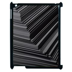 Paper Low Key A4 Studio Lines Apple Ipad 2 Case (black) by BangZart