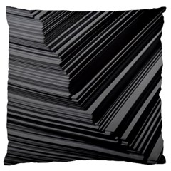 Paper Low Key A4 Studio Lines Large Cushion Case (two Sides)