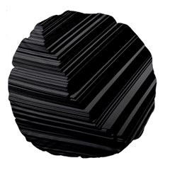 Paper Low Key A4 Studio Lines Large 18  Premium Round Cushions by BangZart