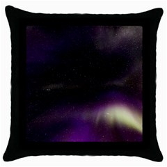 The Northern Lights Nature Throw Pillow Case (black) by BangZart