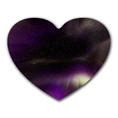 The Northern Lights Nature Heart Mousepads