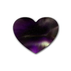 The Northern Lights Nature Rubber Coaster (heart)