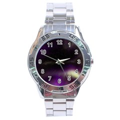 The Northern Lights Nature Stainless Steel Analogue Watch by BangZart