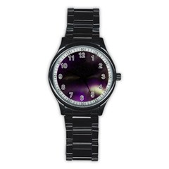 The Northern Lights Nature Stainless Steel Round Watch by BangZart