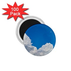 Sky Clouds Blue White Weather Air 1 75  Magnets (100 Pack)  by BangZart