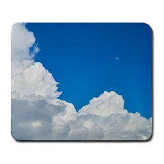 Sky Clouds Blue White Weather Air Large Mousepads by BangZart