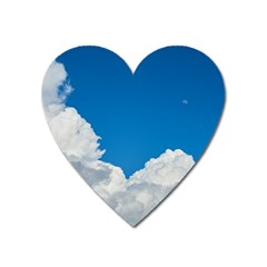 Sky Clouds Blue White Weather Air Heart Magnet
