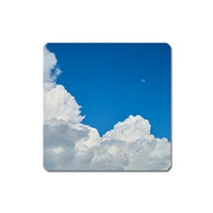 Sky Clouds Blue White Weather Air Square Magnet by BangZart