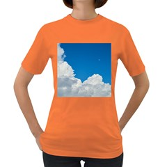 Sky Clouds Blue White Weather Air Women s Dark T Shirt