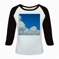 Sky Clouds Blue White Weather Air Kids Baseball Jerseys by BangZart