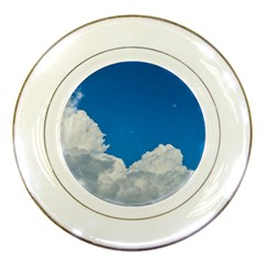 Sky Clouds Blue White Weather Air Porcelain Plates by BangZart