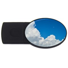 Sky Clouds Blue White Weather Air Usb Flash Drive Oval (4 Gb) by BangZart