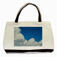 Sky Clouds Blue White Weather Air Basic Tote Bag by BangZart