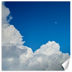 Sky Clouds Blue White Weather Air Canvas 16  X 16