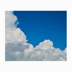 Sky Clouds Blue White Weather Air Small Glasses Cloth (2 Side) by BangZart