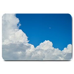 Sky Clouds Blue White Weather Air Large Doormat  by BangZart