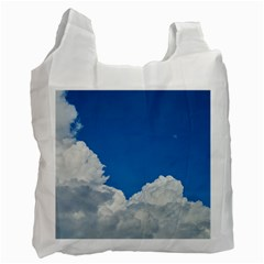 Sky Clouds Blue White Weather Air Recycle Bag (one Side)