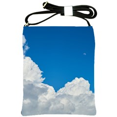 Sky Clouds Blue White Weather Air Shoulder Sling Bags by BangZart