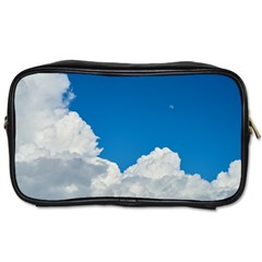 Sky Clouds Blue White Weather Air Toiletries Bags 2 Side by BangZart