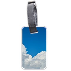 Sky Clouds Blue White Weather Air Luggage Tags (one Side)
