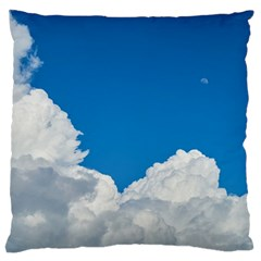 Sky Clouds Blue White Weather Air Large Cushion Case (two Sides) by BangZart