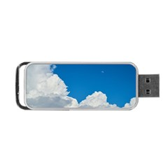 Sky Clouds Blue White Weather Air Portable Usb Flash (one Side)